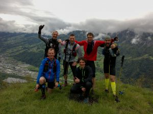 Trail running group Chamonix May 2016
